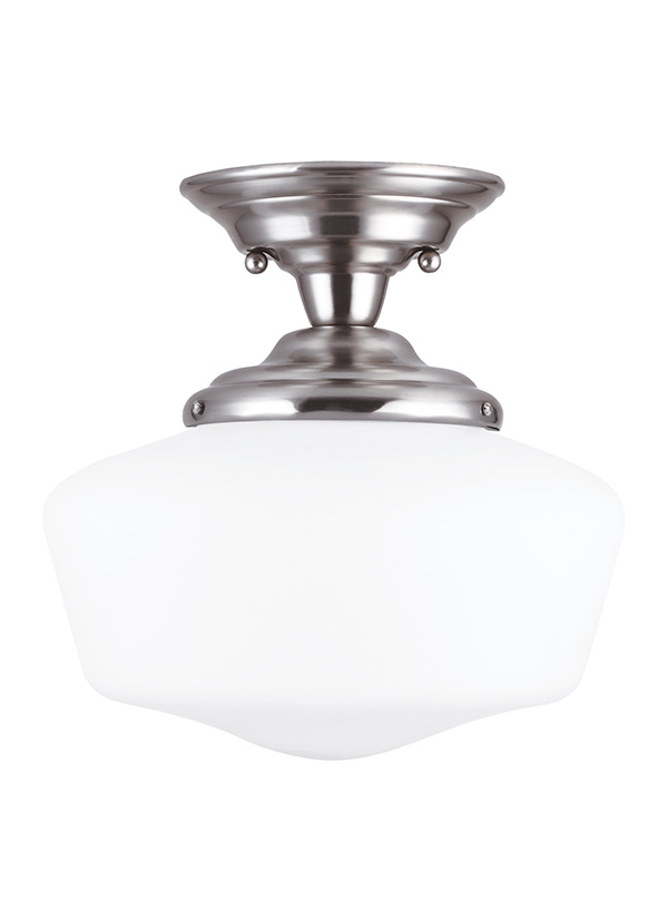 Academy One Light Semi-Flush Mount